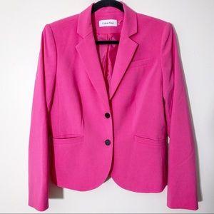 Calvin Klein Pink Womens Blazer Size 10 Stretch